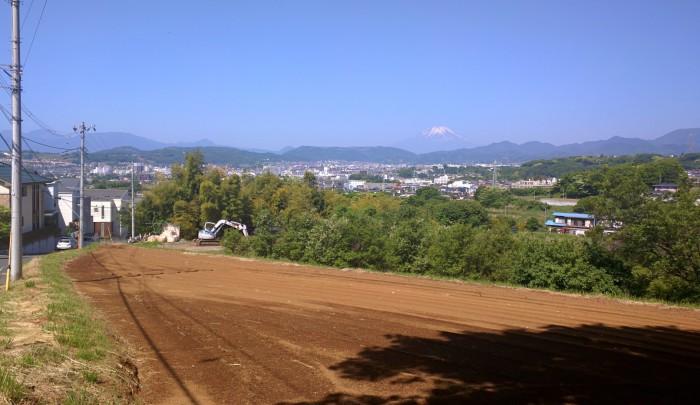 秦野市から見える富士山